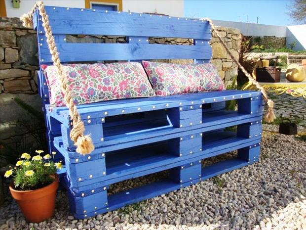 Uitgelezene 7 creatieve tuinprojecten om te maken met pallets   Brico.be GZ-35