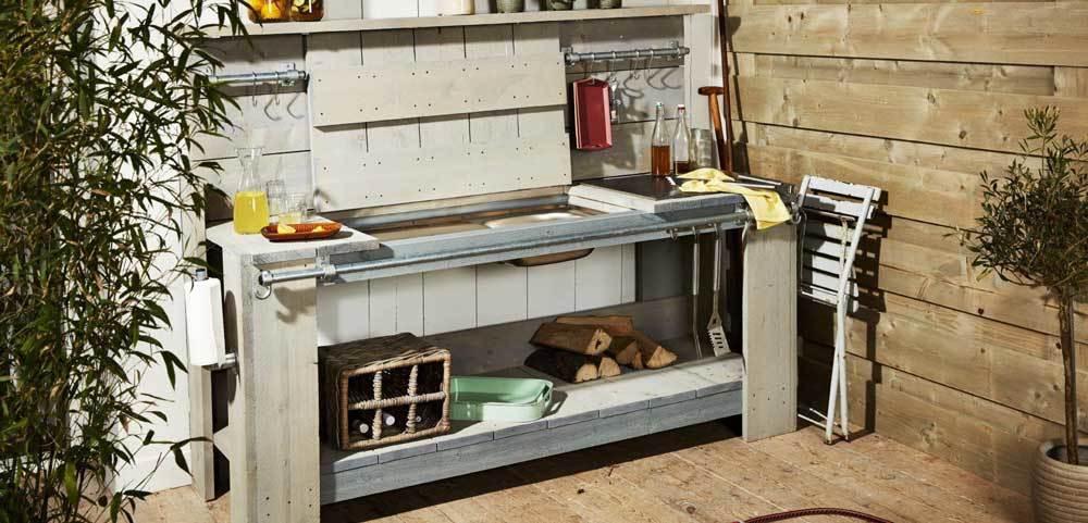 Créer une cuisine d'été extérieure