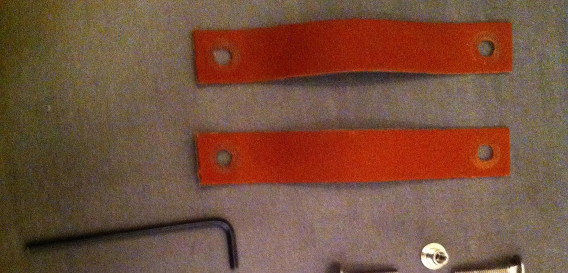 Leren handgrepen op (schuif)deur monteren Voor de makers