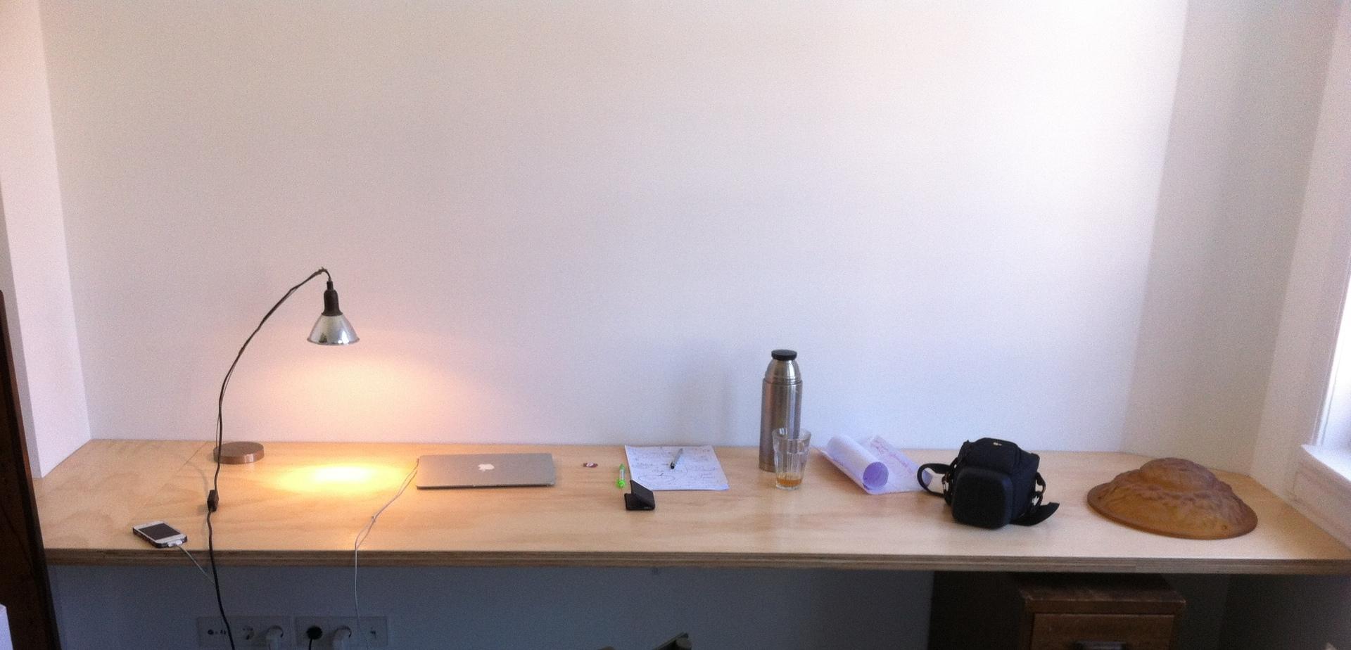 Bureaublad maken voor de makers for Wohnwand 3 meter lang