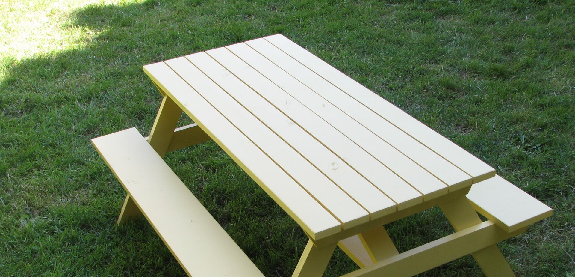 Fabriquer sa propre table de pique nique pour les makers - Fabriquer table picnic ...