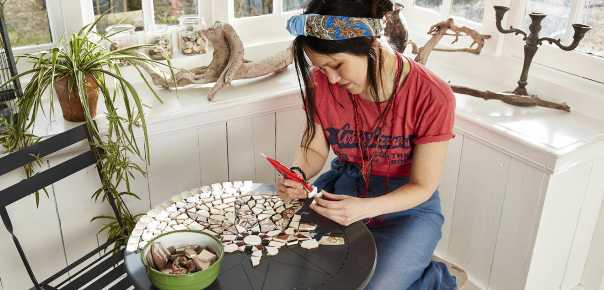 R aliser une table de jardin en mosa que pour les makers for Comment realiser une table de jardin en mosaique