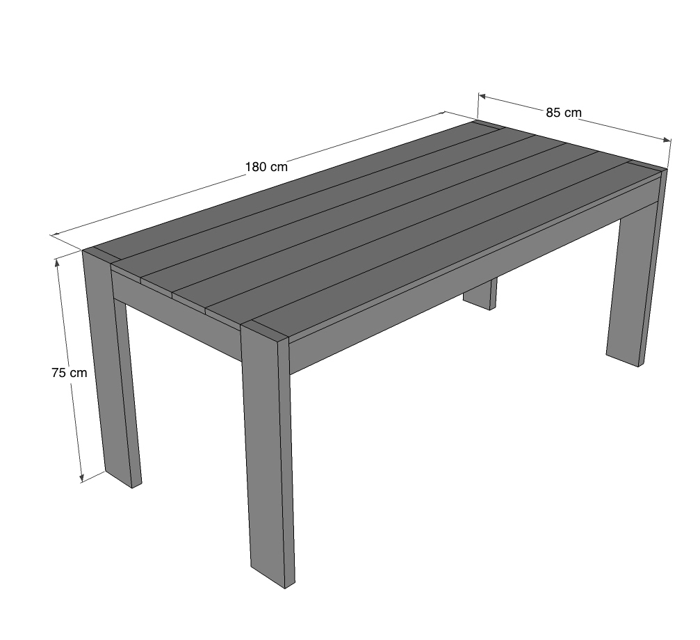 R aliser une table manger xl pour les makers for Realiser une table de jardin
