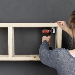 Etag   re murale en bois d    chafaudage 250x250px